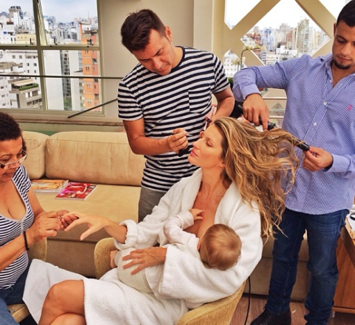 Gisele Bundchen: Breastfeeding and Multitasking!