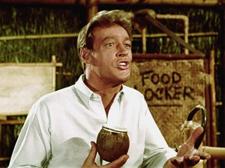Russell Johnson on Island