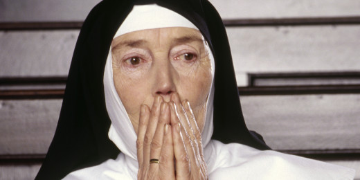 Surprised nun