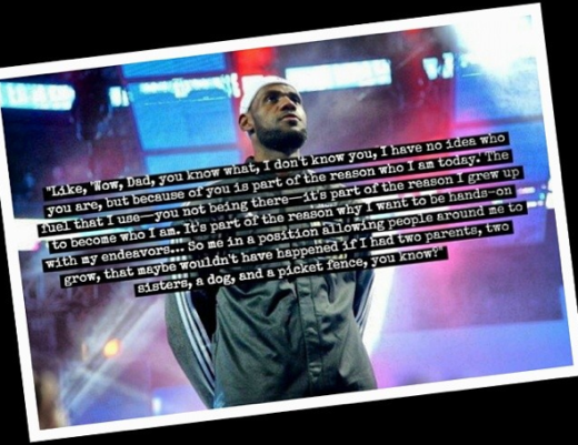 LeBron James' Note to Dad