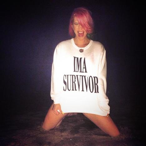Kesha Drops Dollar Sign, Is a Survivor