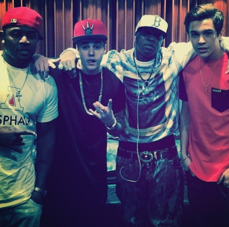 Austin Mahone and Justin Bieber