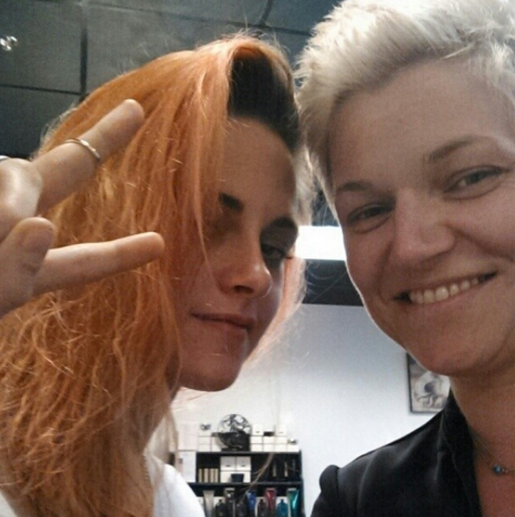 Kristen Stewart Orange Hair Pic