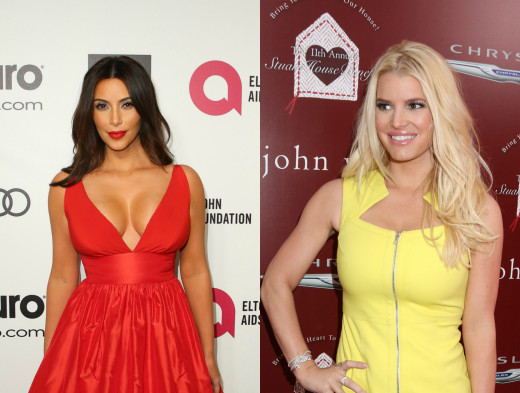 Kim Kardashian and Jessica Simpson