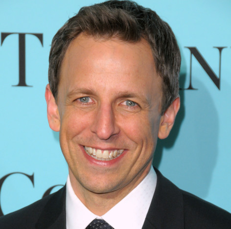 Smiling Seth Meyers