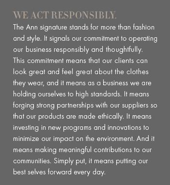 Responsibly, Ann