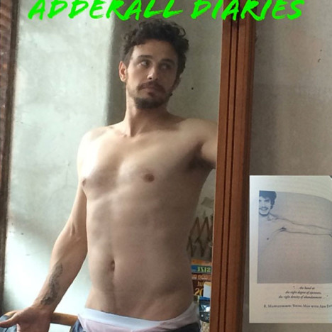 James Franco Shirtless on Instagram