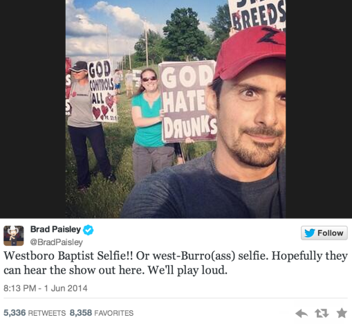 Westboro Baptist Church Selfie