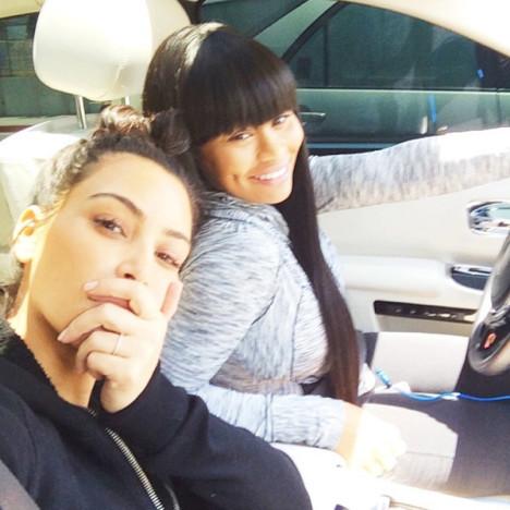 Kim Kardashian No Makeup Selfie
