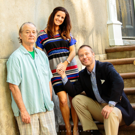Bill Murray Photobombs Engagement Pic