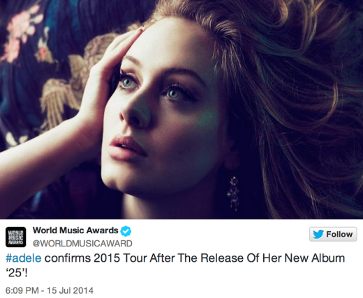 Adele Tour Annoucement