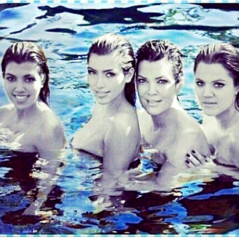 Kris Jenner and Topless Daughters