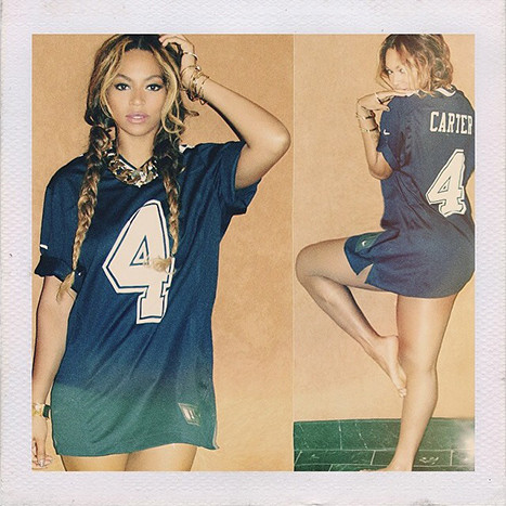 Beyonce Wears Carter Jersey