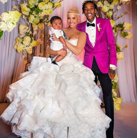 Wiz Khalifa and Amber Rose Anniversary Photo