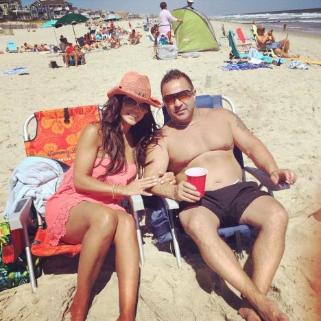 Teresa and Joe Giudice Beach Photo
