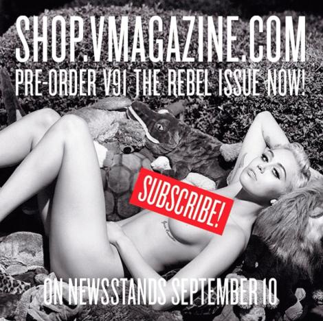 Miley Cyrus: Naked for V