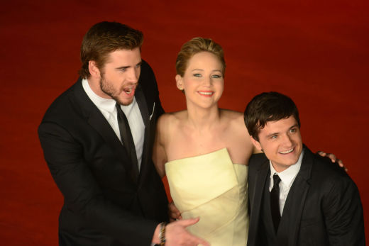 Jennifer Lawrence, Liam Hemsworth and Josh Hutcherson