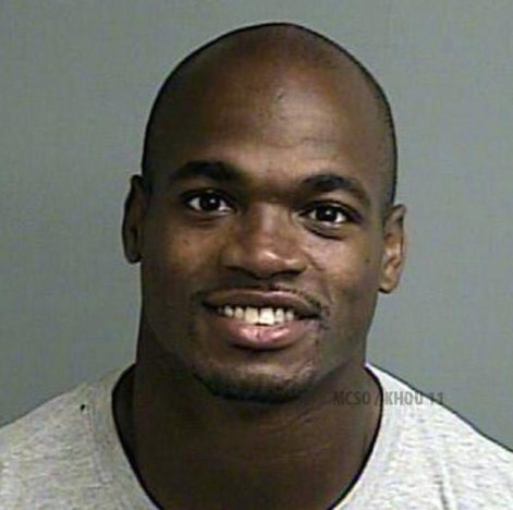 Adrian Peterson Mug Shot Released: What, Me Worry?