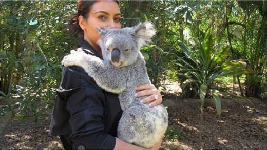 Kim Kardashian and Koala