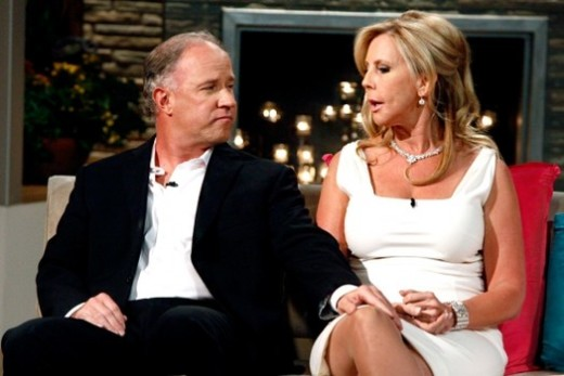 Vicki Gunvalson with Brooks Ayers