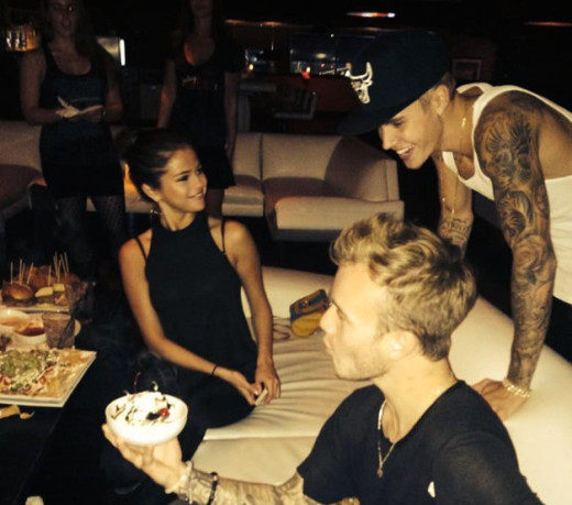Justin and Selena Go Bowling