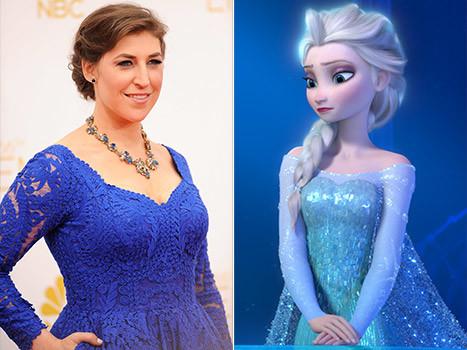 Mayim Bialik and Elsa