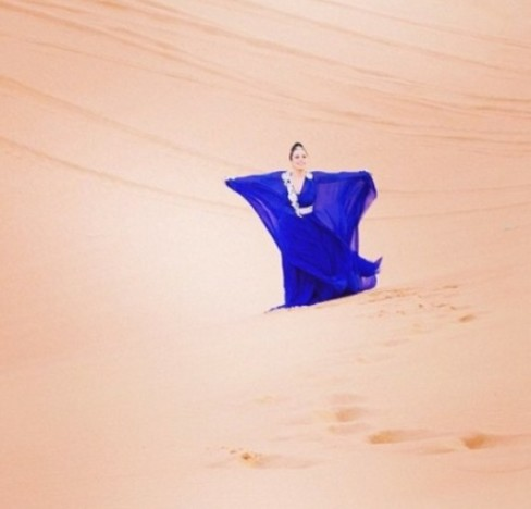 Lagy Gaga Desert Photo