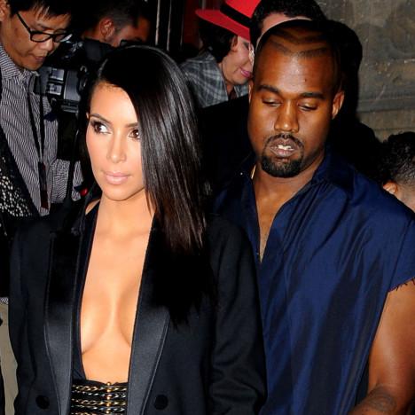 Kim Kardashian Cleavage Outfit