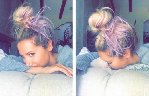 Ashley Tisdale Purple Hair Pic