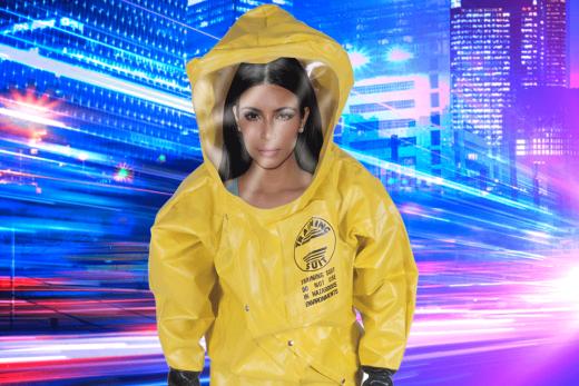 Kim Kardashian HazMat Suit