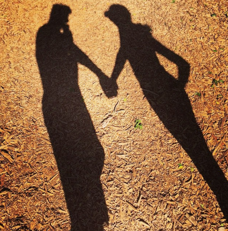 Matthew Paetz Holds Hands with Lea Michele