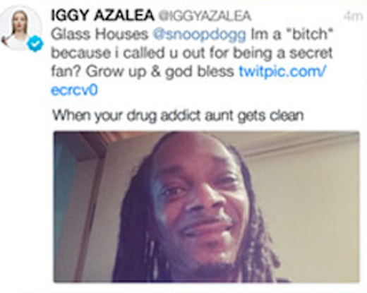 Iggy Azalea Shades Snoop Dogg