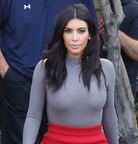 Kim Kardashian Accentuates Breasts