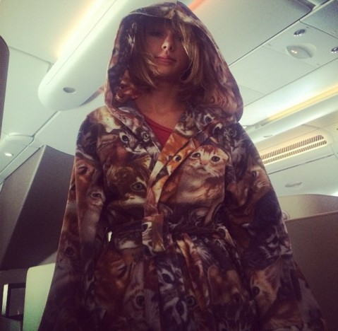 Taylor Swift Cat Robe