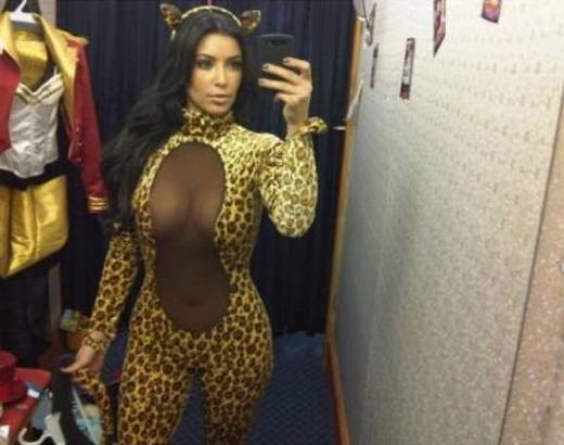 Kim Kardashian Halloween Pic