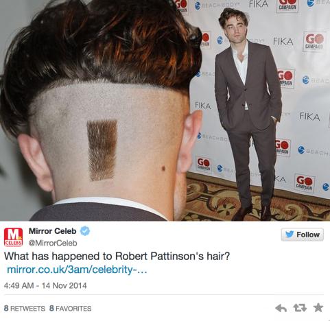 Robert Pattinson Haircut