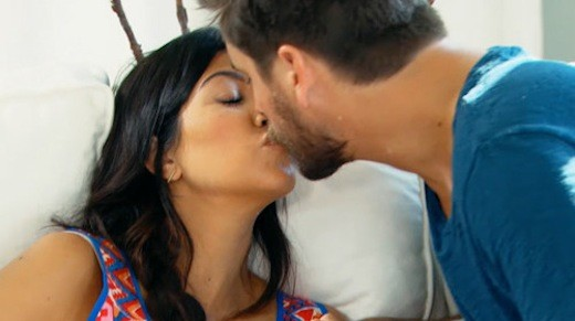 Kourtney and Scott Kiss