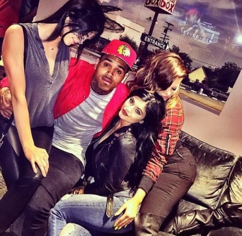 Chris Brown, Kylie, Kendall and Khloe
