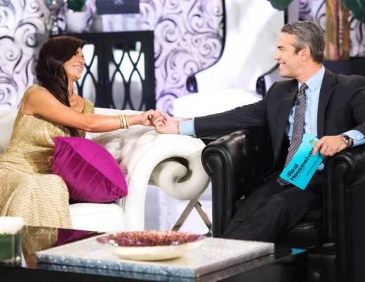 Teresa Giudice and Andy Cohen