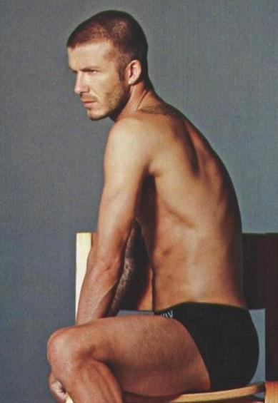 Nearly Naked David Beckham