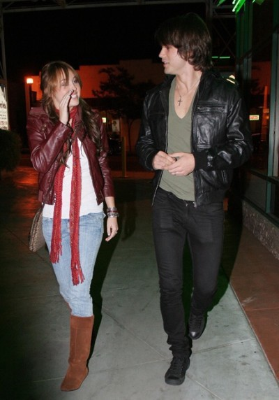 Justin Gaston and Miley Cyrus