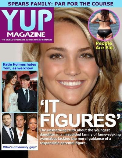 Jamie Lynn Spears: Yup Magazine Cover