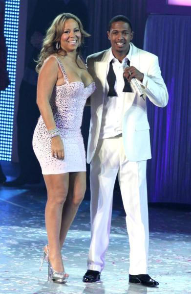 Mariah Carey and Nick Cannon at MSG