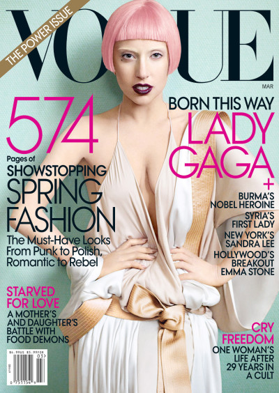 Lady Gaga Vogue Cover: 2011