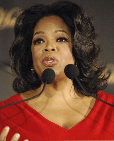 Oprah at the Mic