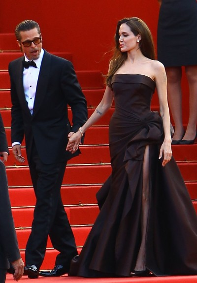 Angelina Jolie and Brad Pitt in Cannes