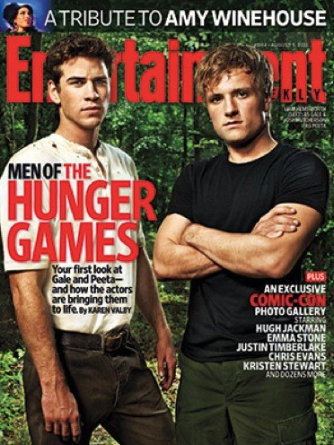 Josh Hutcherson and Liam Hemsworth EW Cover