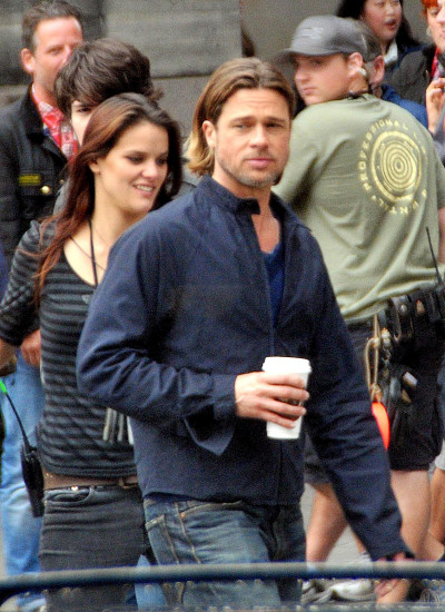 Brad Pitt Filming World War Z