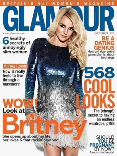 Britney Spears Glamour UK Cover