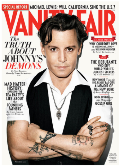 Johnny Depp Vanity Fair Cover